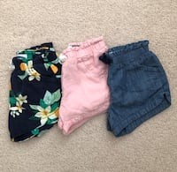 3 pairs of shorts size 2T Mississauga, L5M 6C6