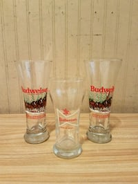 two clear glass beer mugs Nottingham, 21236