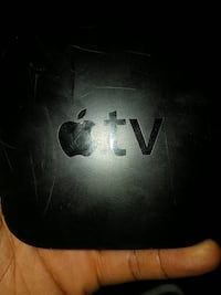 black Apple brand TV
