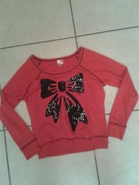 Brand Dolled up Red sweater with bow 893 mi