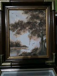 brown wooden framed painting of trees Welland, L3B 5N5