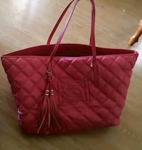 Pink leather quilted tote bag Mirabel, J7N 0L8