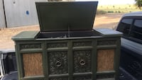 black wooden TV stand with flat screen television Fresno, 93727