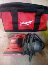 black and red Milwaukee duffel bag Peachland
