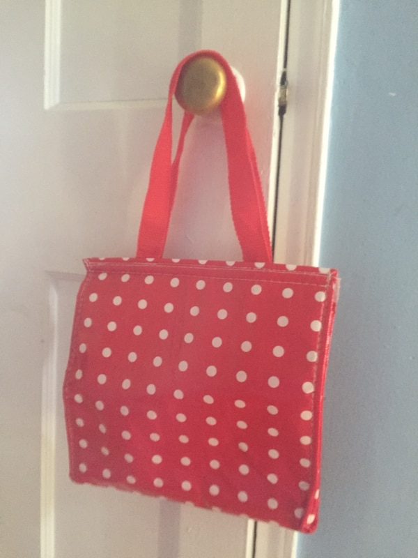$1-New red polka dots freezer lunch bag