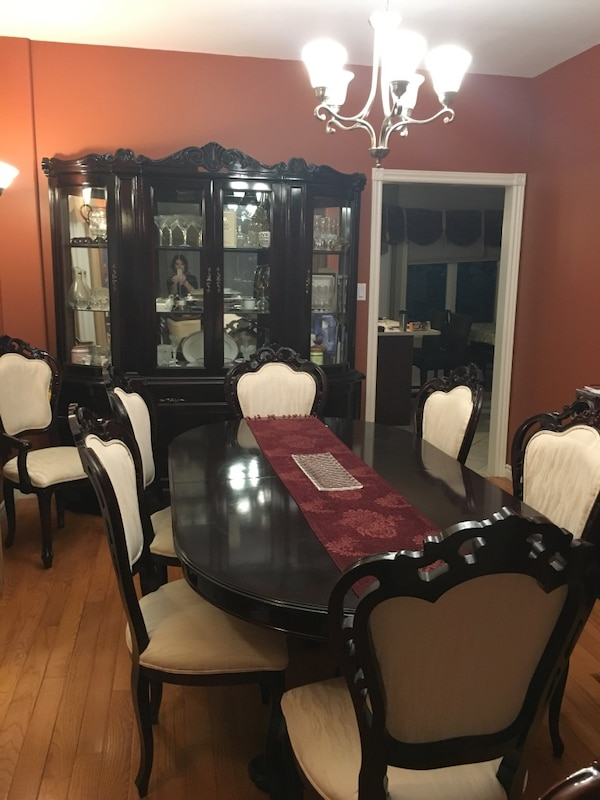 Dining Table Set With Buffet Hutch