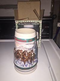 1993 Budweiser Holiday Stein Collectible Mug Erie, 16509