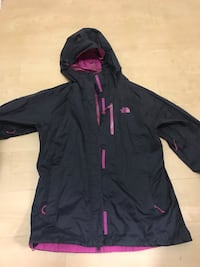 Black and pink women's North Face rain jacket  Arlington, 22206