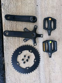 140mm crank; 42T chainring; 5 bolt; pedals - all for $25 Montclair, 22025