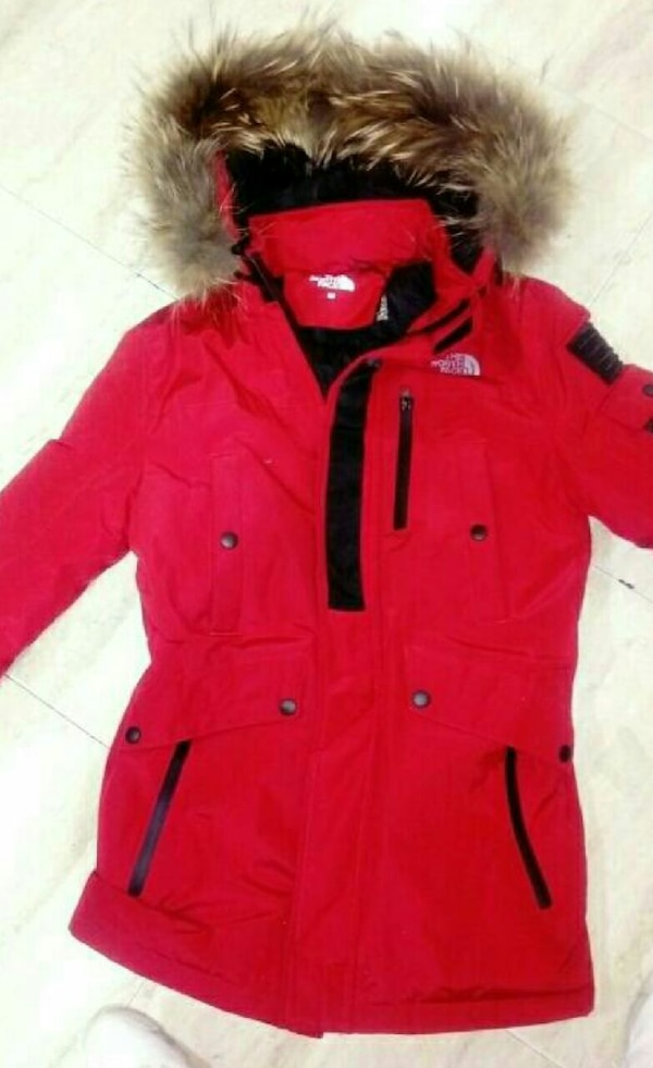 Chaqueta In The Sale North Y Used Face Madrid Roja Parka Marrón For fv47Wxd
