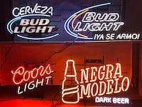 black and red Bud Light neon signage Silver Spring, 20904