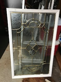 Etched glass windows $50 each..