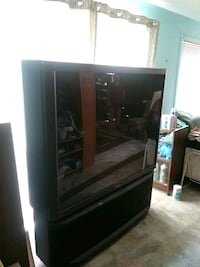 brown wooden framed glass display cabinet West Kelowna, V1Z 2X6