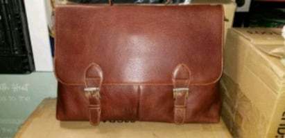 Leather bag briefcase
