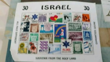 Awesome Coolest Israel Collectible Stamps!