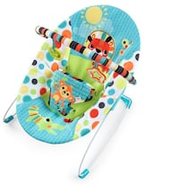baby's blue and green bouncer Monroe, 10950
