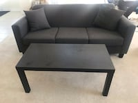 Grey 3 seater couch + coffee table  Hamilton, L8B