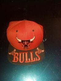 red and black Chicago Bulls snapback cap