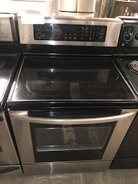 LG stainless steel electric stove convection oven