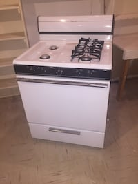 Gas oven and stove top unit