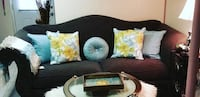 Black and white floral sofa Germantown