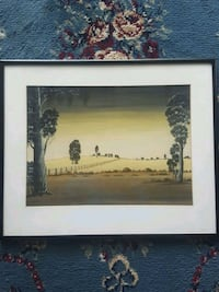 Unsigned, framed scenic watercolor. Mobile
