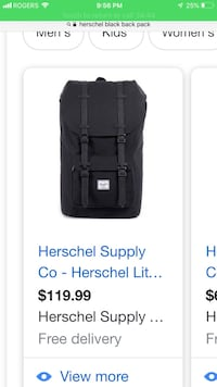 HERSCHEL black bag FOR SALE! Winnipeg, R3G 2R5