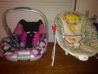 baby's girl car seat and bouncer Warner Robins