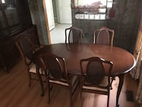 brown wooden dining set Windsor, N9A 3J4