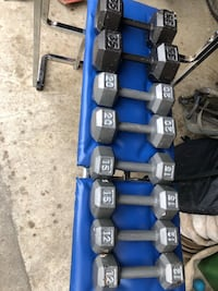 Dumbbell set  and a bench 175$ OBO.      2x12 2x15 2x20 2x35 Dundas, L0R 5P2