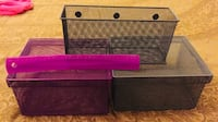 3 piece Metal wire mesh storage bins containers boxes Ormond Beach, 32174