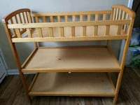 brown wooden 3-layer changing table Kansas City, 66112
