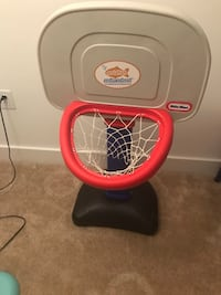 Red and gray little tikes basketball hoop Arlington
