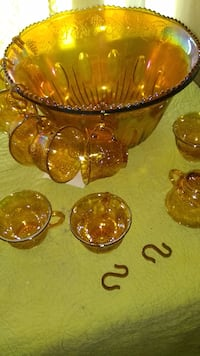 Carnival punch bowl 10 cups