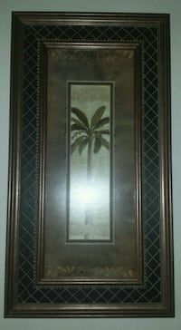 Extra Large Hanging Palm Tree Wall Decor