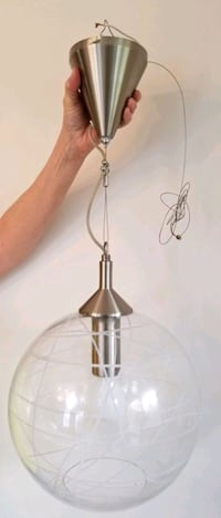 Modern glass globe pendant light