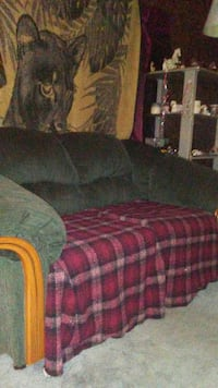 Love seat, blanket of leopard and metal glass l Dallas, 28034