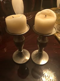 2 PEWTER CANDLE HOLDERS Rosemère, J7A 4T3