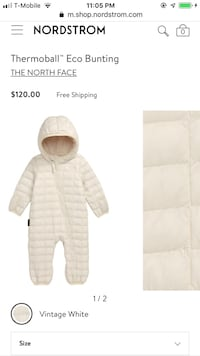 North face thermoball baby bunting Olney, 20832