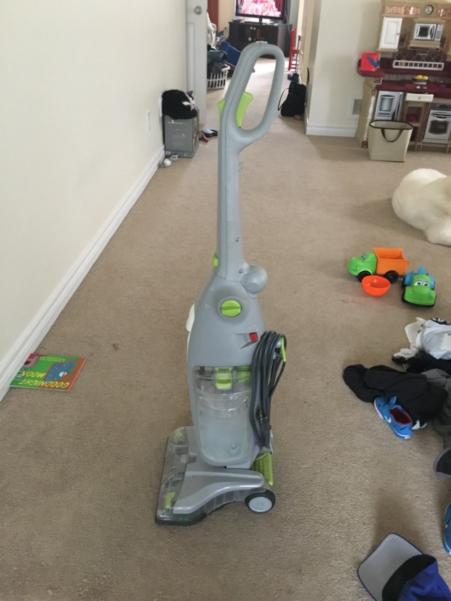 gray and white Hoover upright vacuum cleaner for hard wood floors or tile - Port Cartier