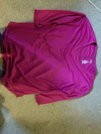pink v-neck long-sleeved shirt active wear Mansfield, 06268