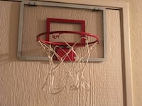 white and red basketball hoop Los Angeles, 91423