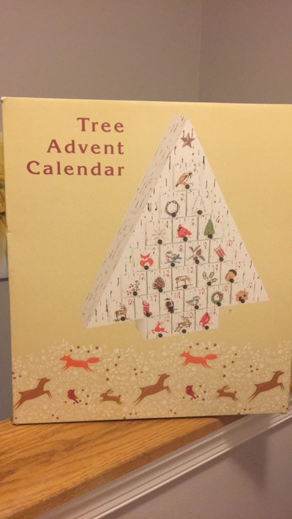 white tree advent calendar