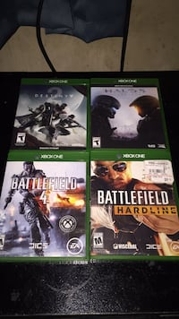 I don't play battlefield got them from a friend I have destiny on my ps4 and I didn't like halo brand new except for battle field if you would like picture ask for my number  Fairbanks, 99701