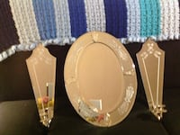 Hanging Mirrored candle holders, Brand New