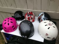 Various Kids and Youth Helmets