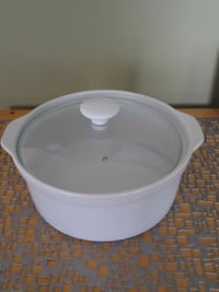 white ceramic bowl with lid Laval, H7W 2R8
