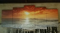 Sunset pictures $50 frame picture $50 Mirror $20 Carney