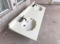 white and black ceramic sink Laredo, 78045