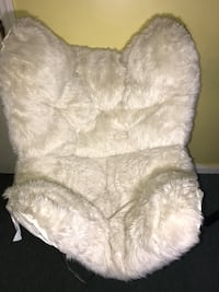 White Fur Butterfly Dorm Chair Elmont